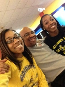 Jah with his teen-age Daughters